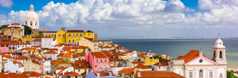 Lisbon, Portugal cityscape in the Alfama District.